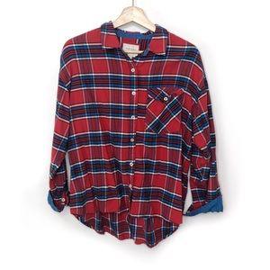 Forever 21 Large Front Pocket Plaid Shirt sz L